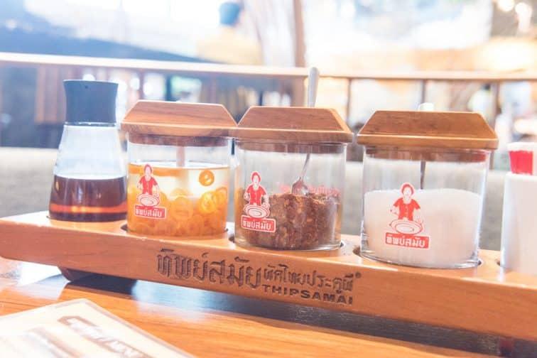 タイのテーブル調味料