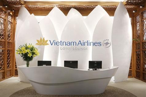 ベトナム航空のロータスラウンジ