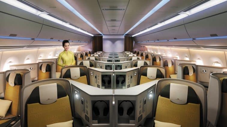 ベトナム航空ビジネスクラスの全景