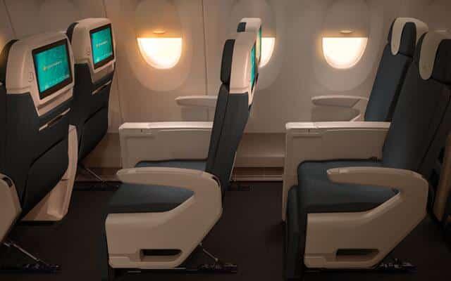 ベトナム航空プレミアムエコノミークラスの座席