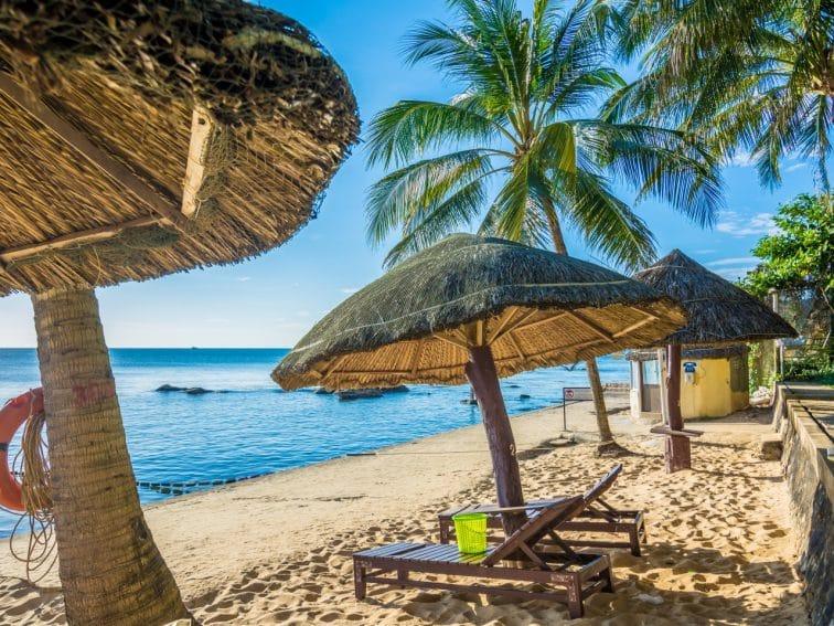 フーコック島のパラダイスビーチ