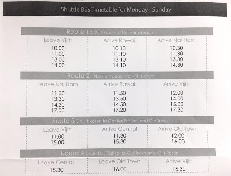 ヴィジットリゾートの無料シャトルバスでプーケット観光