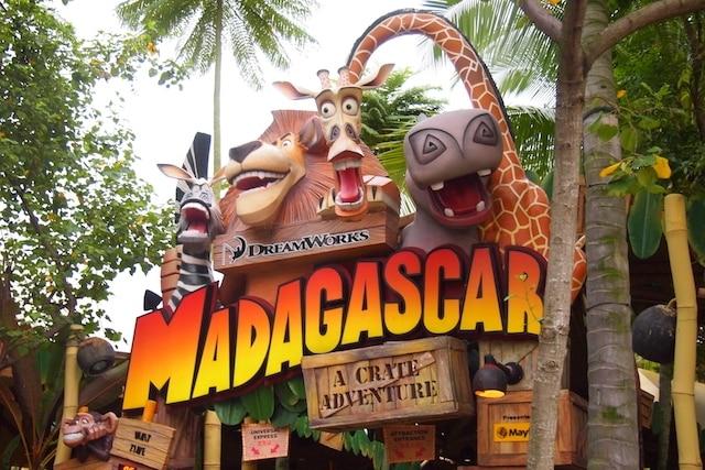 ユニバーサルスタジオシンガポールのマダガスカルエリア