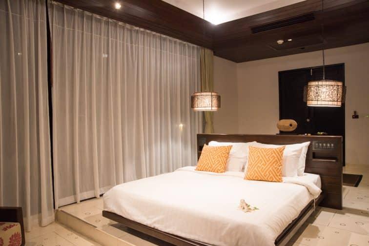 ヴィジットリゾートのデラックスヴィラの客室