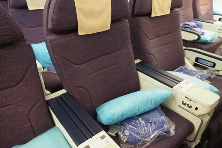 フィリピン航空 A330 プレミアムエコノミークラスの座席