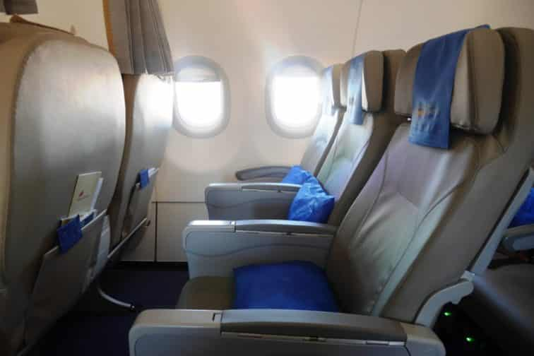 A321ceoプレミアムエコノミークラス 座席1
