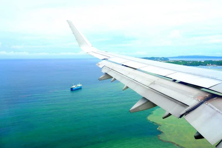 フィリピン航空 飛行機からの眺め
