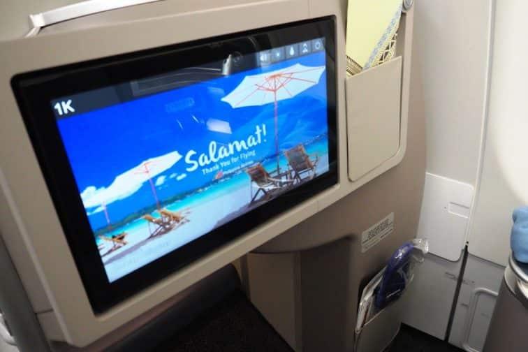 フィリピン航空 機材 A330 ビジネスクラス モニター
