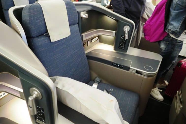 フィリピン航空 機材 A330 ビジネスクラス 座席