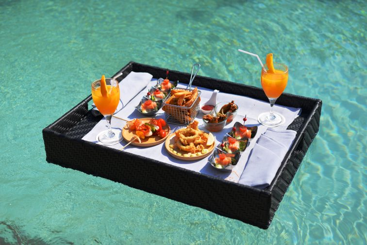 floating breakfast image in boracay crimson