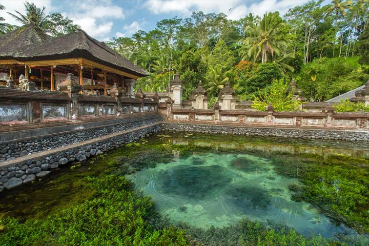 聖なる泉の湧く由緒あるお寺、ティルタエンプル