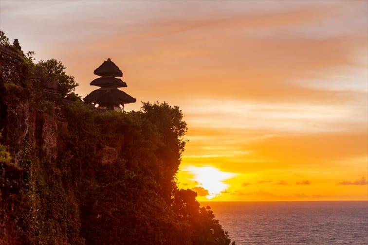 ウルワツ寺院名物の夕陽