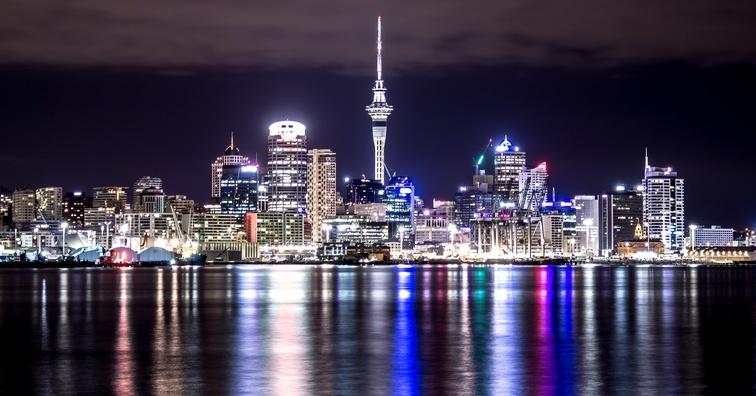 ニュージーランド・オークランド 夜景