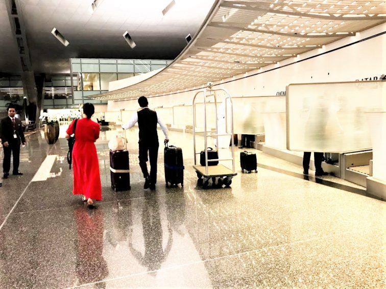 ドーハ空港ビジネスクラスのポーター