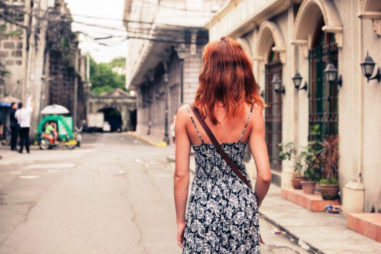 girl walking manila