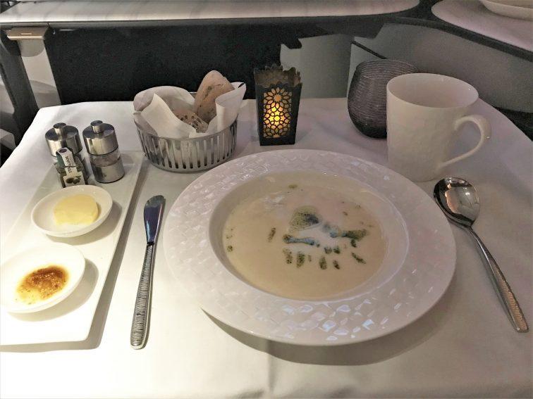 カタール航空Qスイートスープ