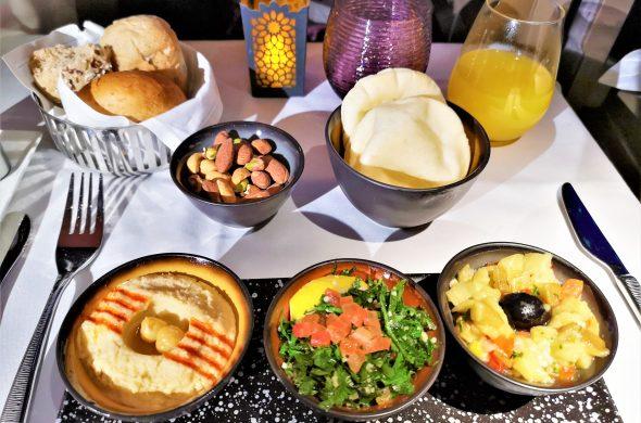 カタール航空Qスイート機内食