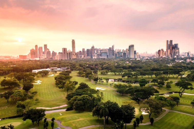 manila city panorama view