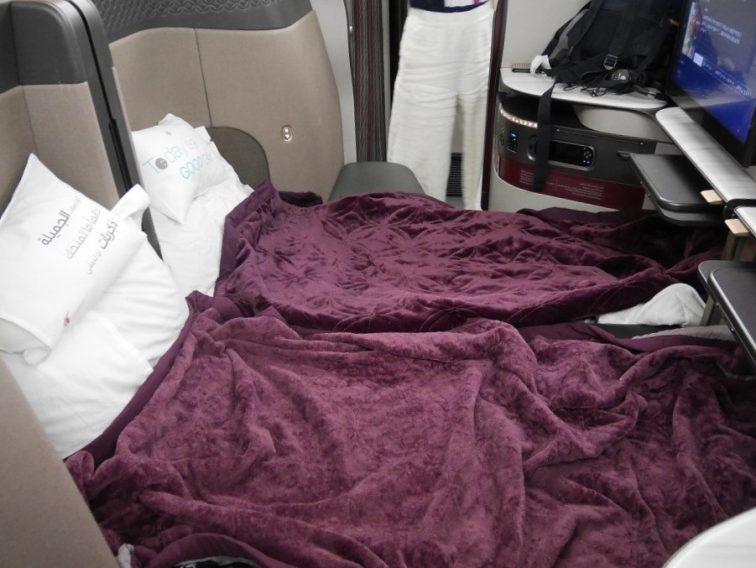 カタール航空Qシートのダブルベット