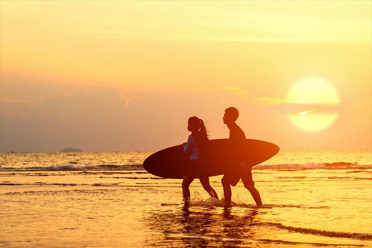 ロマンティックなクタの夕陽