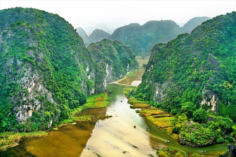 自然遺産としての価値が認められている「チャンアン=タムコック=ビックドン景勝地」