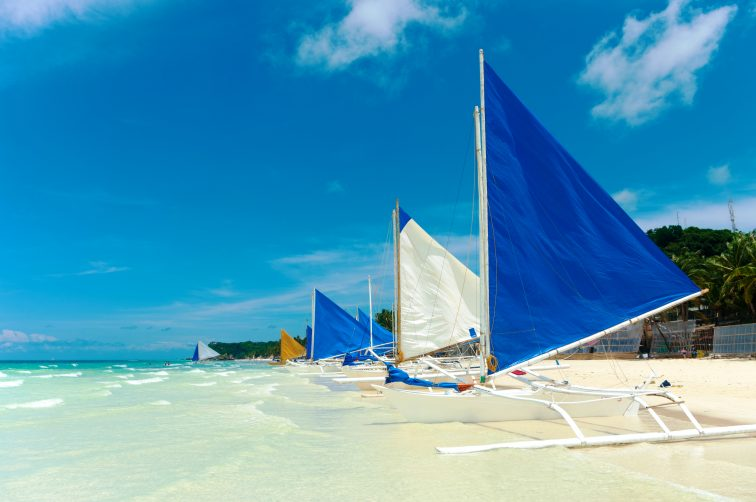 Boracay boat on the beach