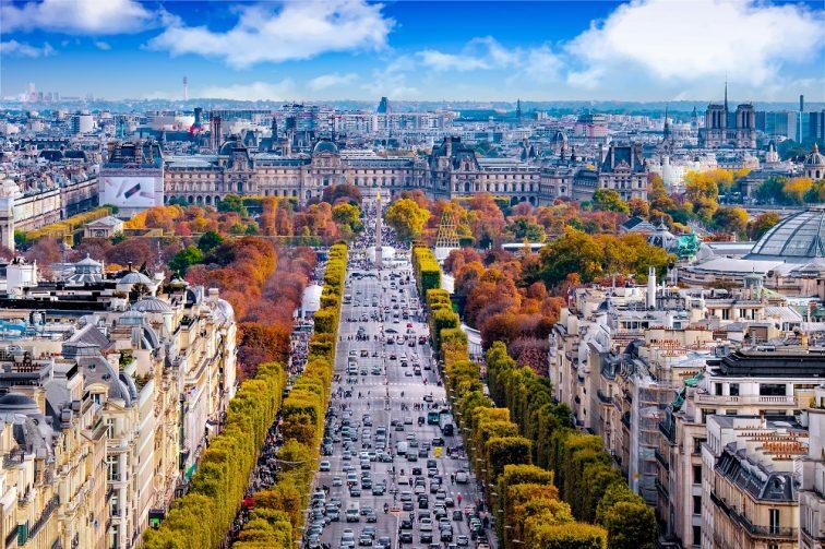フランス パリ 紅葉