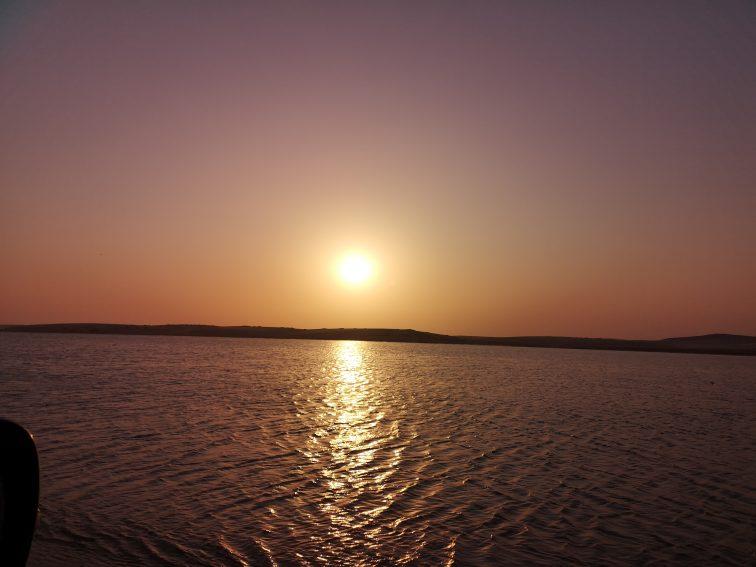カタール インランドシー 夕陽