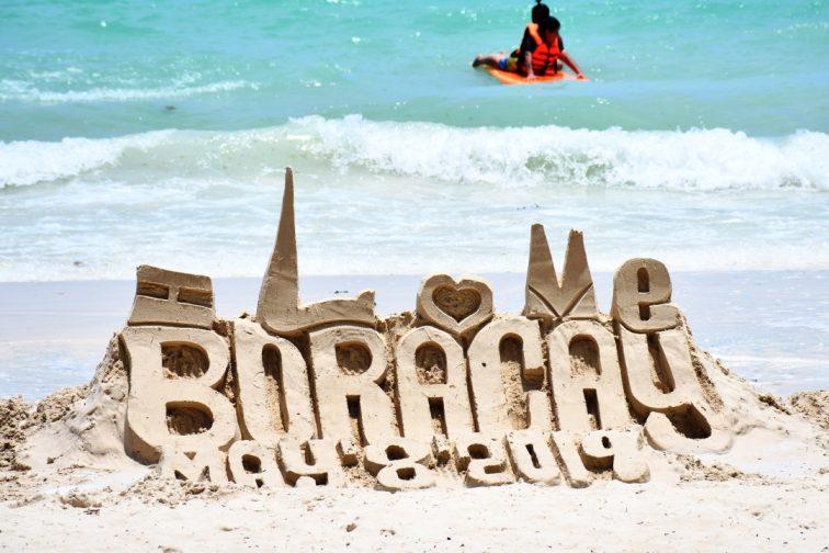 boracay beachside sand castles