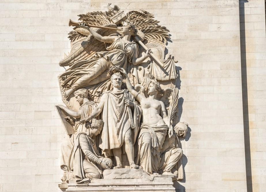 パリ 凱旋門 彫刻