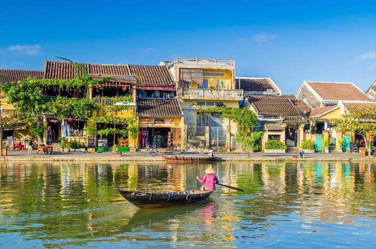 ホイアンは市街地全体が世界遺産に登録されている