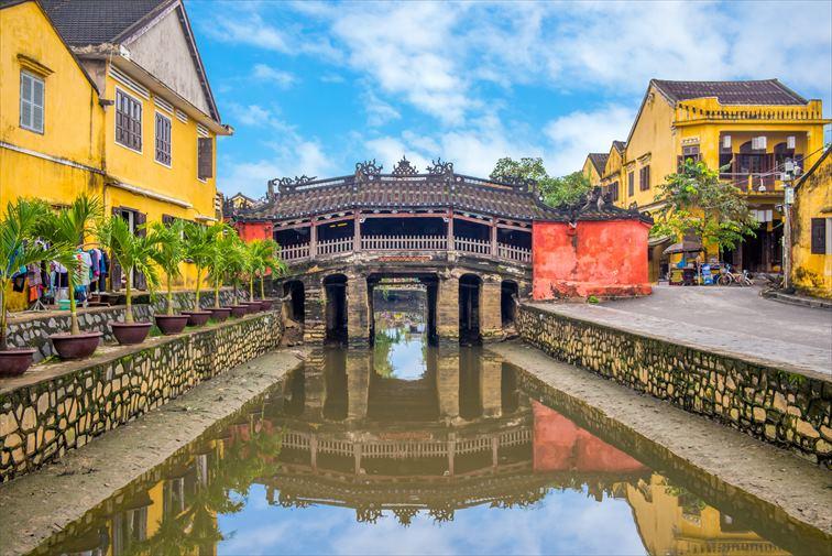 ホイアンの町のシンボルにもなっている「来遠橋(日本橋)」