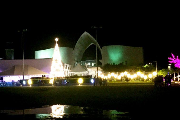 グアムミュージアムのイルミネーション