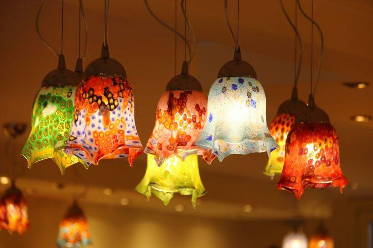 ベネチアングラス照明器具