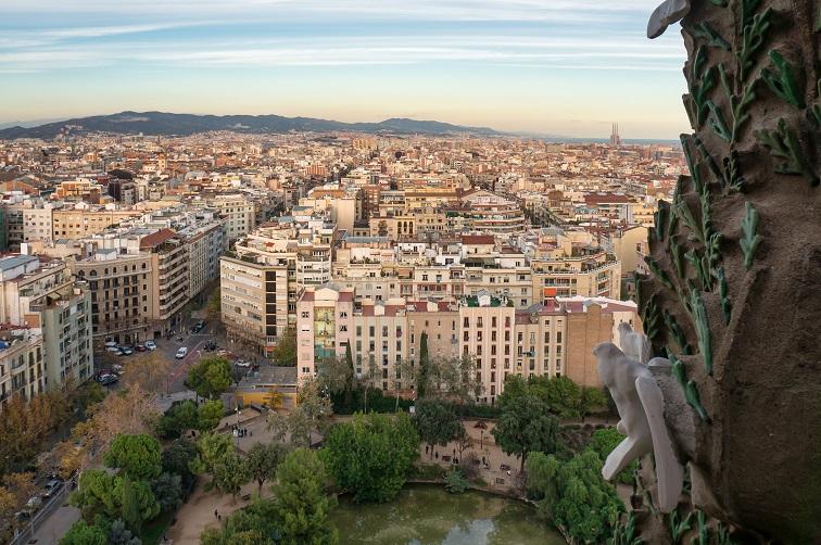 サグラダ・ファミリア塔の上からの眺め