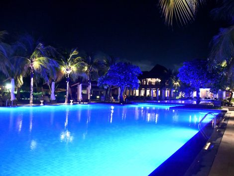 night pool at crimson resort cebu tour