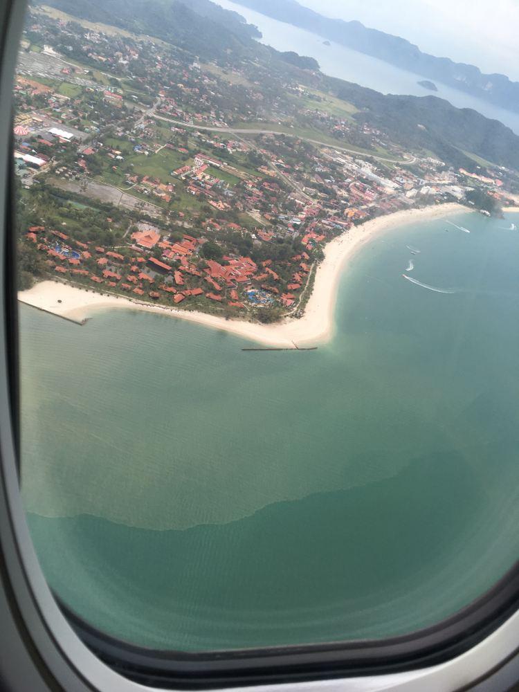 飛行機からのランカウイ島の眺め