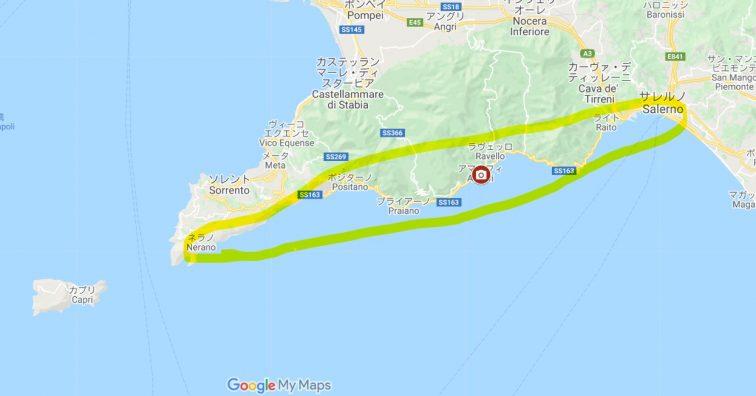 アマルフィ海岸 MAP