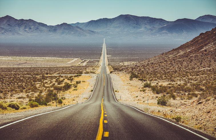 デスバレーへ向かうルート