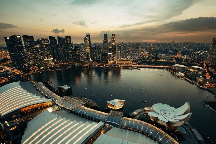 シンガポール・マリーナエリアの夕暮れ