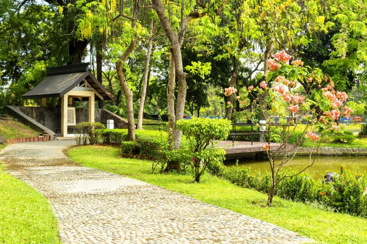 Japanese garden in Manila