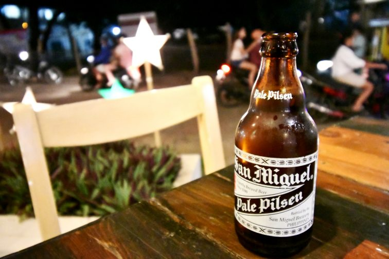 drinking at the Coron town