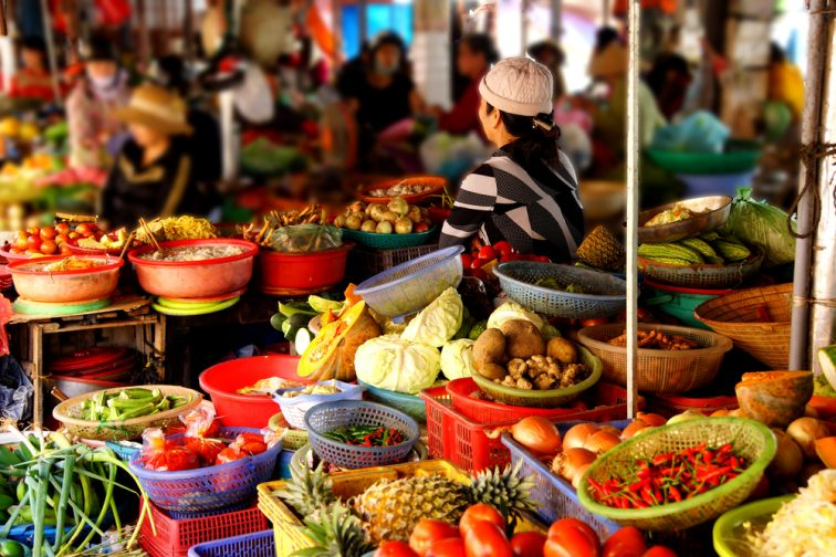 ダナンの市場「ハン市場」「コン市場」