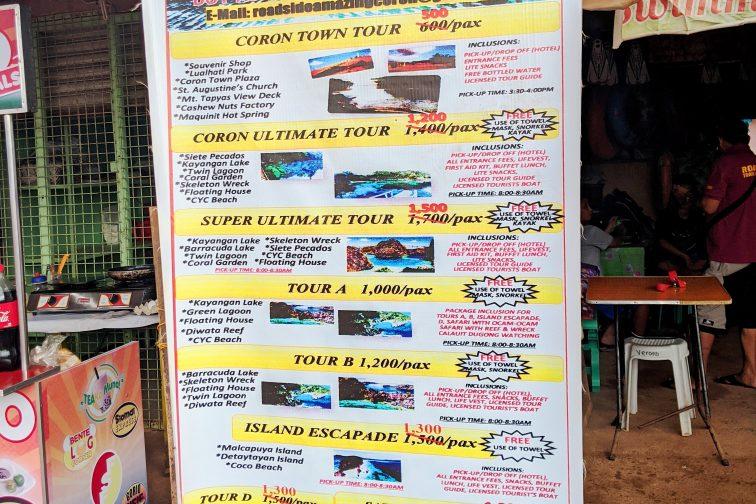 tour price in Coron