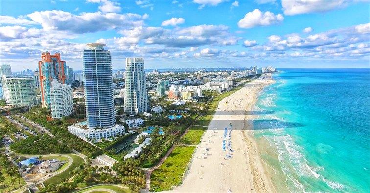 有名で人気が高いサウスビーチ