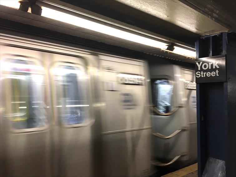 ニューヨークの地下鉄