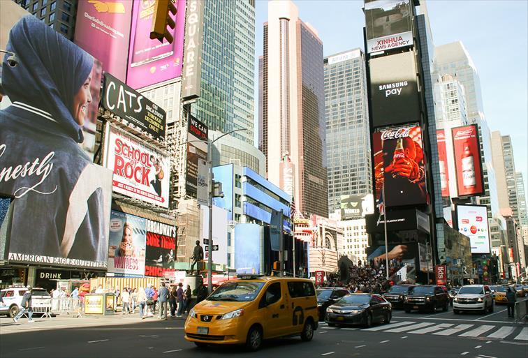 ニューヨークのタクシー(イエローキャブ)