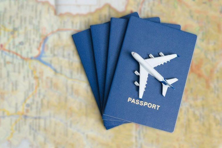 passport on the maps