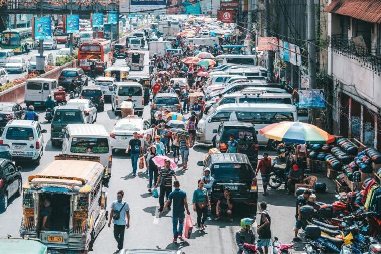 traffic jam in Philippines