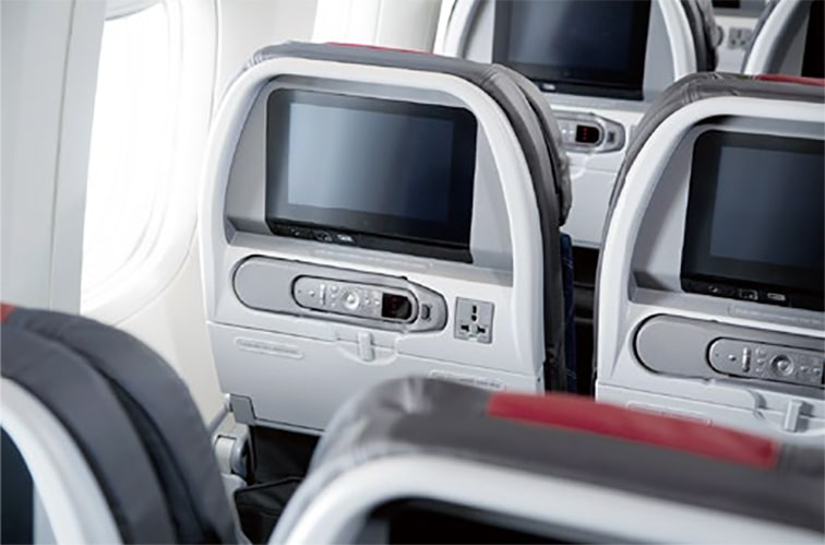 アメリカン航空の清潔な機内